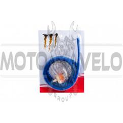 Шланг топливный Ø4mm, 1 метр (синий) MANLE