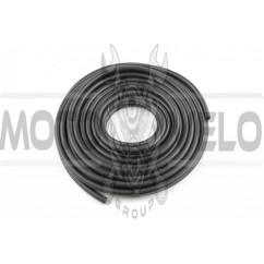 Шланг топливный Ø4mm, 20 метров (резиновый, черный) MANLE