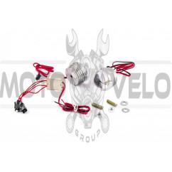Стробоскоп диодный (2шт, круглые) (линза) (белый) PLT