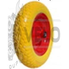 Колесо   4,00 -8   TL   (бескамерное, под ось D-12мм )   (силикон, желтое)   ELIT