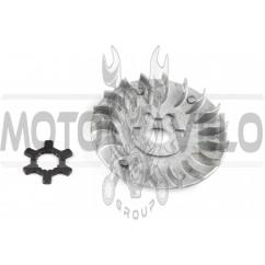 Щека вариатора неподвижная 2T Stels 50, Yamaha JOG 90 (алюминий, d-16, +ступица) DONXING