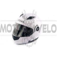 Шлем трансформер (mod:FX-115) (size:L, белый) FGN