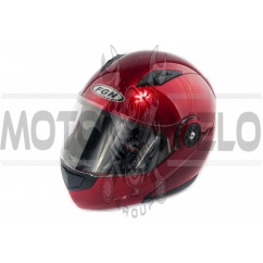 Шлем трансформер (mod:FX-115) (size:XL, красный) FGN