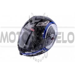 Шлем трансформер (size:ХХL, бело-синий+ солнцезащитные очки) LS-2