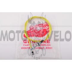 Трос переднего тормоза Honda DIO (уп.1шт, желтый)