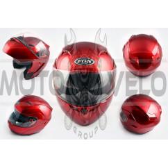 Шлем трансформер (mod:688) (size:XL, красный, солнцезашитные очки) FGN