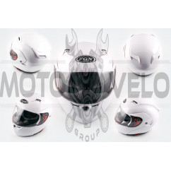 Шлем трансформер (mod:688) (size:XL, белый, солнцезащитные очки) FGN