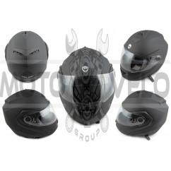 Шлем трансформер (mod:FL258) (size:L, черный матовый) HELMO