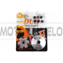 Вариатор передний (тюнинг) Honda DIO AF34 (+палец, ролики 6шт, пружина торкдрайвера) DLH