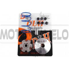 Вариатор передний (тюнинг) Honda LEAD AF48, DIO AF54/56 (+палец, ролики 6шт, пружина торкдрайвера) DLH