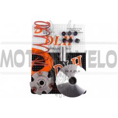 Вариатор передний (тюнинг) 4T GY6 150 (+палец, ролики 6шт, пружина торкдрайвера) DLH