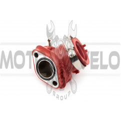 Патрубок карбюратора (коллектор) 4T GY6 125/150 (силиконовый, красный) NJK