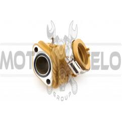 Патрубок карбюратора (коллектор) 4T GY6 125/150 (силиконовый, желтый) NJK