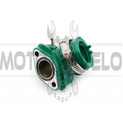 Патрубок карбюратора (коллектор) 4T GY6 125/150 (силиконовый, зеленый) NJK