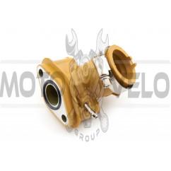 Патрубок карбюратора (коллектор) 4T GY6 50 (силиконовый, желтый) NJK