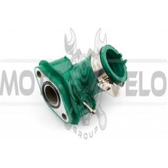 Патрубок карбюратора (коллектор) 4T GY6 50 (силиконовый, зеленый) NJK