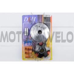 Вариатор передний (тюнинг) Suzuki LETS (ролики латунь 9шт, палец, пружины сцепления) DLH