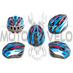 Шлем кросс-кантри (бело-синий) DS