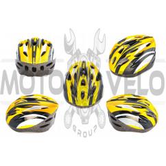 Шлем кросс-кантри (бело-желтый) DS