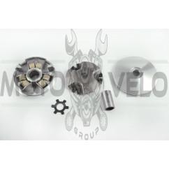 Вариатор передний Yamaha JOG 90, 2T Stels 50 (d-16mm, палец, щека, ступица)