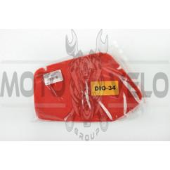 Элемент воздушного фильтра Honda DIO AF34/35 (поролон с пропиткой) (красный) AS