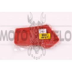 Элемент воздушного фильтра Honda DIO AF27 (поролон с пропиткой) (красный) AS