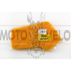 Элемент воздушного фильтра Honda DIO AF27 (поролон с пропиткой) (желтый) AS