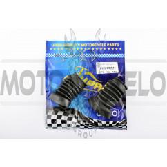 Гофры передней вилки (пара) L-80mm, d-27mm, D-45mm Yamaha JOG 50 3KJ (диск) KOMATCU