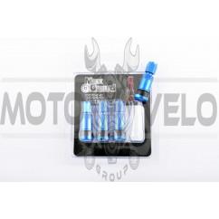 Ниппель колеса (стайлинговый, прямой) (синий) (#0003) MAX GUARD