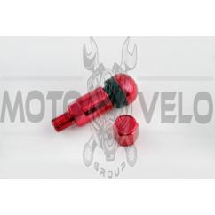 Ниппель колеса (стайлинговый, прямой) (красный)