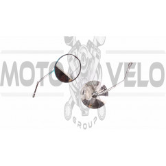 Зеркала   Alpha   (круглые, хром, d-10mm)   KOMATCU   (mod.A), пара