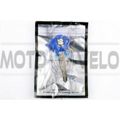 Ключ замка зажигания (заготовка) Suzuki (с эмблемой, длинный, синий) KOMATCU