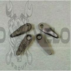 Нож режущий ременной косилки   (4 шт, форма капли)   KAM