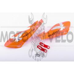 Защита рук на руль   (mod:3, MONSTER ENERGY, оранжевые)   XJB