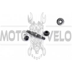 Вал редуктора мотокосы   (+шестерни 7Т)   STARS