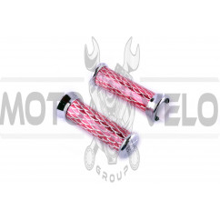Ручки руля чешуя красные   (L-140mm, D-50mm)   DVK