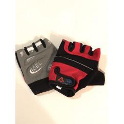 """Перчатки вело """"Traders"""" (без пальцев, гелевые, черно-красно-cерые, size:M)"""