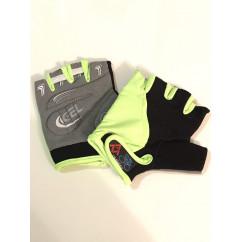 """Перчатки вело """"Traders"""" (без пальцев, гелевые, черно-cеро-салатовые, size:M)"""
