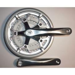 Шатун система, разборная PROWHEEL ATIA, алюминиевая mod:530P 30-42-52ATIA(21) серебро (#MD)