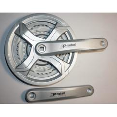 Шатун система, PROWHEEL, алюминиевая mod:CQ01 28-38-48 зуб (11) ,серебро