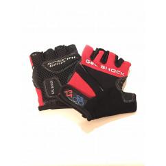 """Перчатки вело """"Gel Shock"""" (без пальцев, гелевые, черно-красные, size:XS)"""