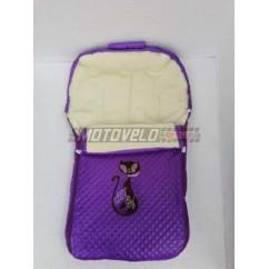 Мех для санок большой Фиолетовый
