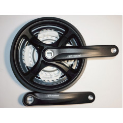 Шатун система, PROWHEEL, алюминиевая mod:CM99 28-38-48 зубов (07) , черный (#MD)