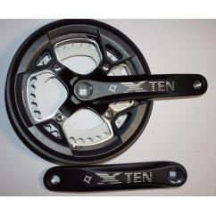 Шатун система, разборная PROWHEEL XTEN, алюминиевая mod:751P 36-48 зуб (13) , черный (#MD)