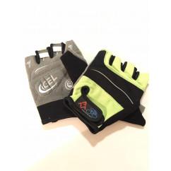 """Перчатки вело """"Traders"""" (без пальцев, гелевые, черно-зелено-cерые, size:S)"""