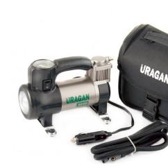 Компрессор URAGAN, 35 л/мин, с LED фонарем, mod:90190