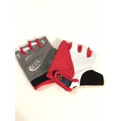 """Перчатки вело """"Traders"""" (без пальцев, гелевые, черно-красно-белые, size:M)"""