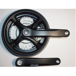 Шатун система, PROWHEEL, алюминиевая mod:CN99 28-38-48 зуб (08) , черный (#MD)