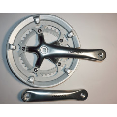 Шатун система, PROWHEEL CHARIOT, алюминиевая mod:420P 39-53(20), серебро (#MD)
