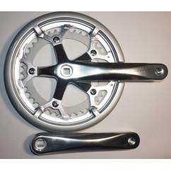 Шатун система, разборная PROWHEEL ATIA, алюминиевая mod:520P 42-52 ATIA(22) ,серебро (#MD)
